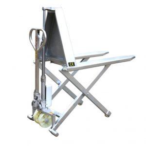 Ножничная тележка с высоким подъемом с рамой из нержавеющей стали HSG540M